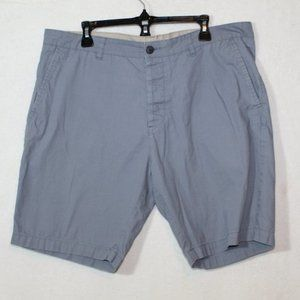 H&M gray blue flat front casual mid length shorts